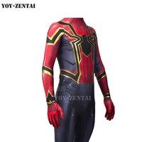 MovieCoser Wysokiej Jakości Najnowszy Pająk Kostium Spiderman Cosplay Costume Nieskończoność Nieskończoność Wojna Wojny Iron Ze Szczegółami
