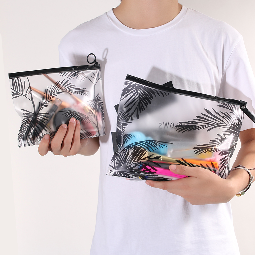 Fashion Women Clear Cosmetic Bags Transparent PVC Toiletry Bags Travel Organizer Necessary Beauty Case Makeup Bag Bath Wash Box