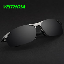Бренд VEITHDIA, алюминиевые поляризованные солнцезащитные очки, мужские спортивные солнцезащитные очки, очки для вождения, зеркальные очки, мужские аксессуары 6529