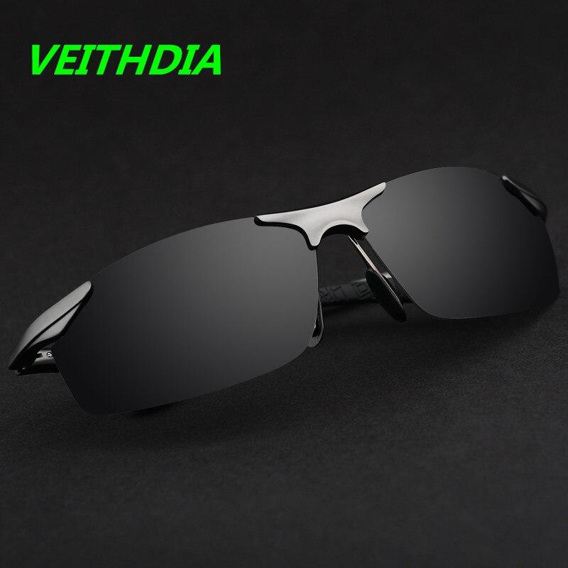 New VEITHDIA Brand Aluminum Polarized Sunglasses Men Sports 4 Color lense Sun Glasses Driving Mirror Goggle 6529 çerçevesiz güneş gözlük modelleri bayan