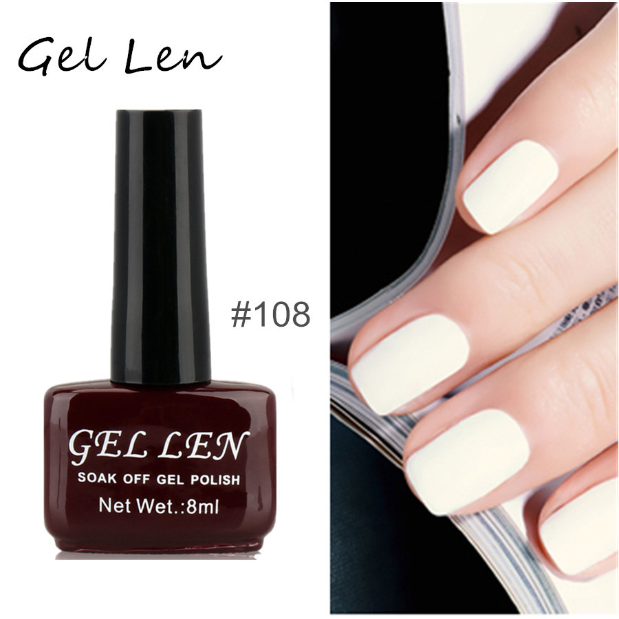 Gel Nail Polish French Manicure: Gel Len Soak Off UV LED Gel Nail Polish French Manicure