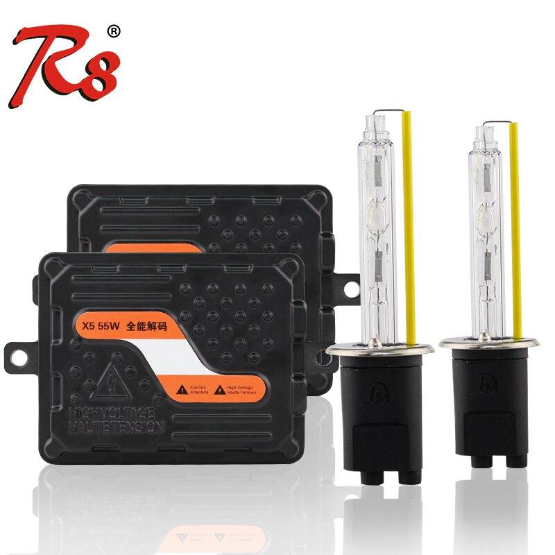 X5 EMC Canbus 12 V 55 W H1 H7 H11 HB3 HB4 9012 881 HID Kit de lampes au xénon Ballast mince Lumen élevé bonne qualité pas d'erreur pour les voitures