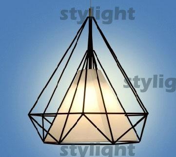 Artistic Creativity Iron Pendant light Droplight for dinning room Restaurant Lighting Diamond Shape pendant