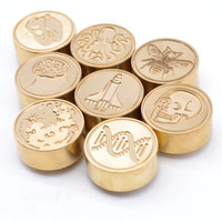Unique World Map Wax Seal Round Stamp With Black Brightly Handle For Postal Envelope Letter