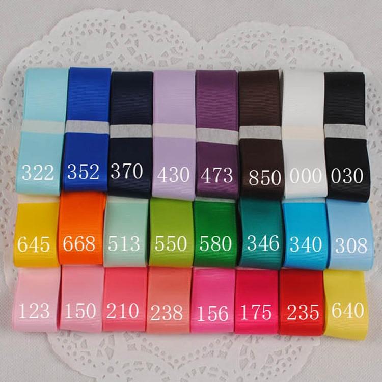Whosale Retailed Width 25mm 1yarns lot plain ribbon manual DIY hair satin ribbon Wedding Party Home