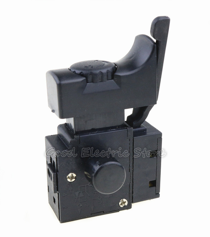 1PCS FA2-6/1BEK Black 6A 250V 5E4 Lock On Power Tool Electric Drill Speed Control Trigger Button Switch Old Style