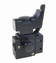 Taladro eléctrico con bloqueo 5E4, FA2 6/1BEK, negro, 6A, 250V, Control de velocidad, interruptor de botón, estilo antiguo, 1 Uds.