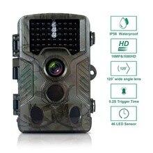 16MP 1080 P камера движения дикая игровая камера 46 шт. светодиоды инфракрасные камеры для диких охотничьих следов наблюдения с 2,4 ''ЖК-дисплеем