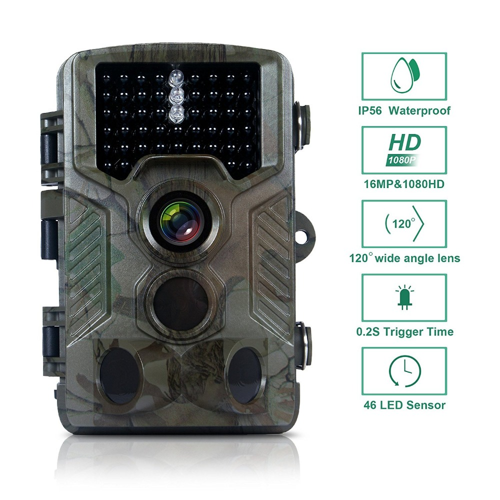 16MP 1080P Motion camera Wild Game Camera 46pcs Leds Infrared Camera for Wild Hunting Trail Surveillance With 2.4'' LCD Display fire maple sw28888 outdoor tactical motorcycling wild game abs helmet khaki