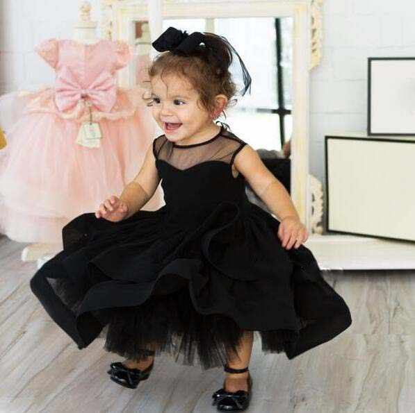 493555f6ac3 Adorable black kids couture beauty pageant flower girl dresses ball gown  toddler girl baby birthday party