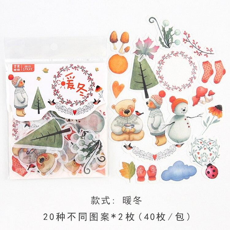 Mohamm кошка цветок дневник деко мини бумага декоративный космический календарь милые наклейки Скрапбукинг журнал хлопья канцелярские товары - Цвет: H