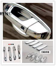 For KIA Sportage QL 2016 2017 ABS Chrome Exterior Car Door Handle + Door Bowl Cover Trims Decoration