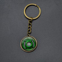 Green Lantern Key Chains Avengers Superhero Comics DC Keychain Anime Jewelry Cartoon Pendant Key Ring For Boy Girl Birthday gift