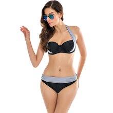 Sexy Bikinis устанавливает Купальник Женщин 2017 Новый Высокой Талией Купальники костюмы Купальник Холтер Push Up Бикини Установить Плюс Размер Купальники XXXL