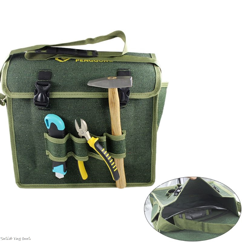 Hardware Toolkit Shoulder Bag Waterproof Oxford Cloth Multi Organize Pockets Storage Pouch Portable Electrician Worker Supply