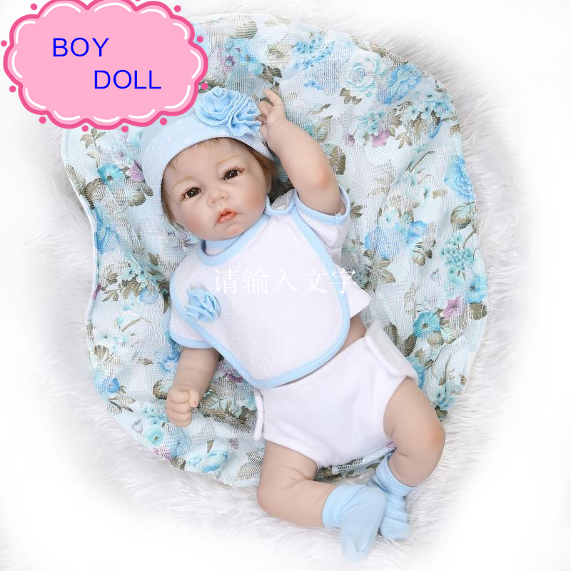 NPK 50cm Top Quality Lifelike Soft Silicone Reborn Baby Doll Handmade Vinyl Realistic Baby Gift Bonecas Bebe Reborn Brinquedos newest fashionable npk real silicone baby dolls about 22inch lifelike doll reborn for baby gift bonecas bebe reborn brinquedos