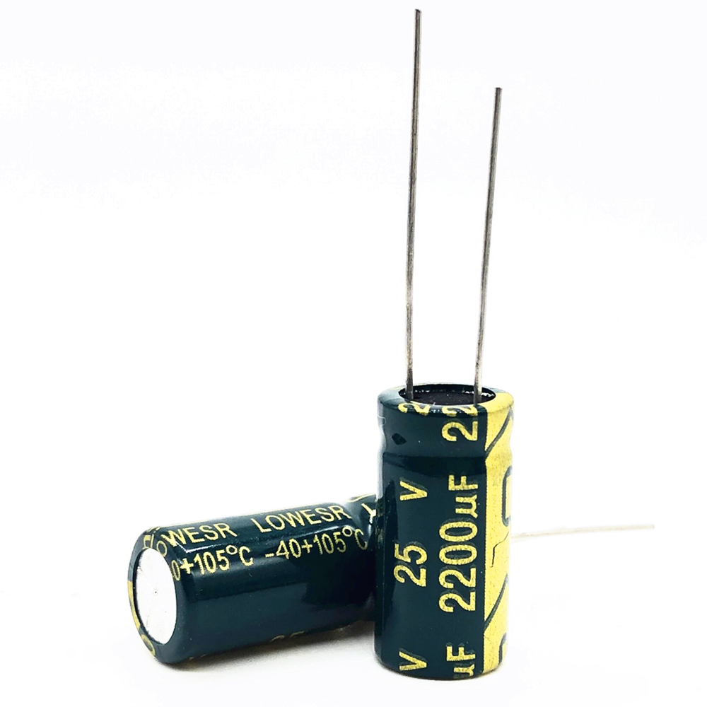 10pcs/lot 25v 2200uf 10*20MM High-frequency Low-impedance Aluminum Electrolytic Capacitor 2200uf 25v 25v2200uf 20%
