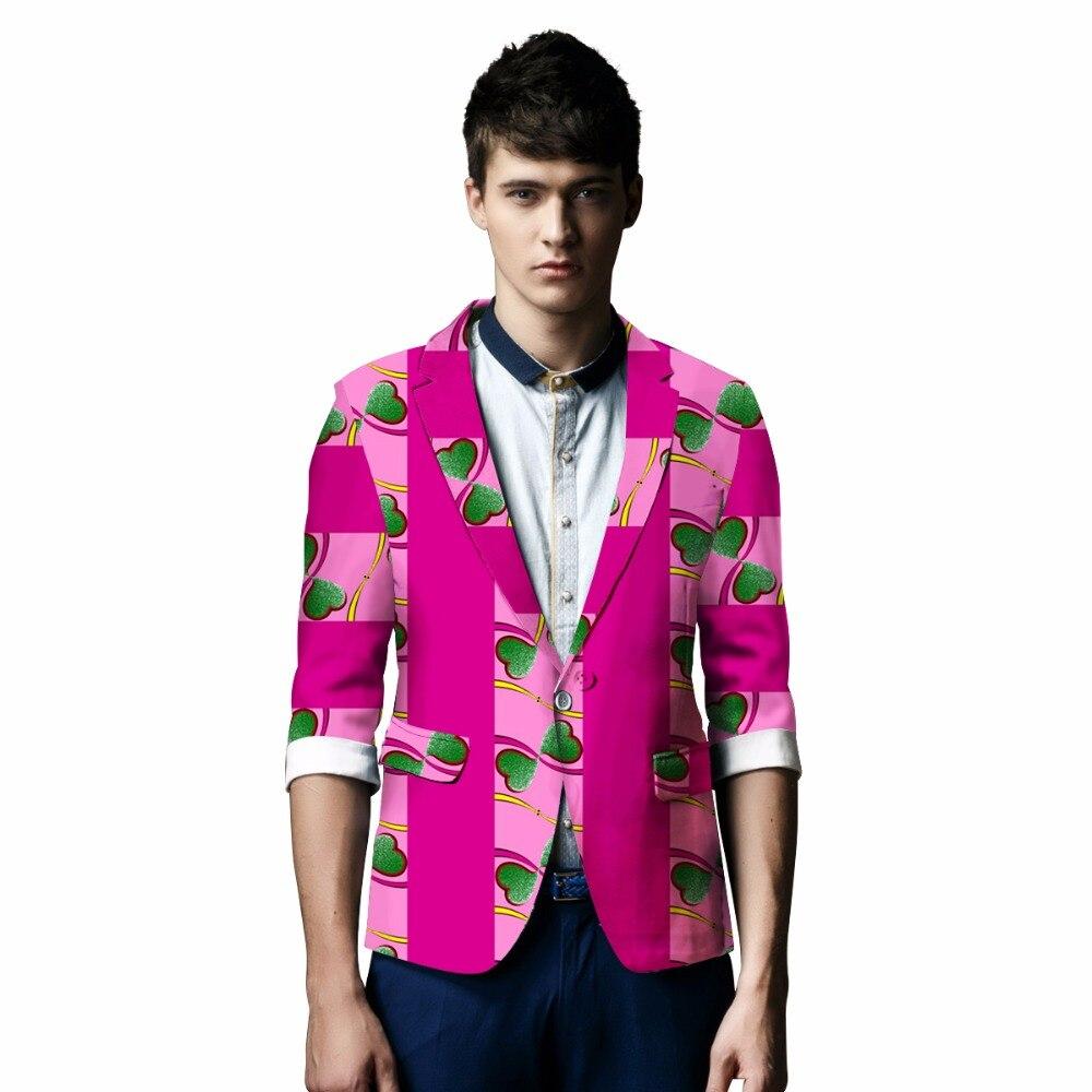 African Print Klær Bazin Riche Elegant Blazer Menn Suit Jakke Casual - Nasjonale klær - Bilde 3
