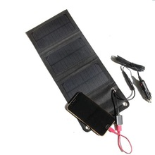 5W 5V/18V Outdoor folding Solar Panel 12V USB Output Portable Foldable Power Bank waterproof Solar Charger for Smartphone