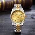 (Chino) Día de Primeras Marcas de Lujo Del Reloj de Los Deportes Impermeable Reloj de Las Mujeres de Oro de Cuarzo de Acero Inoxidable Reloj Homme Montre Homme