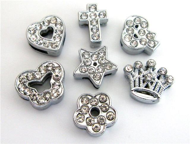 wholesale 10pcs 8mm mix style rhinestone Charms Fit 8mm key chain Pet  Collar wristband DIY Necklace   Bracelet ce2f8a1f2d81