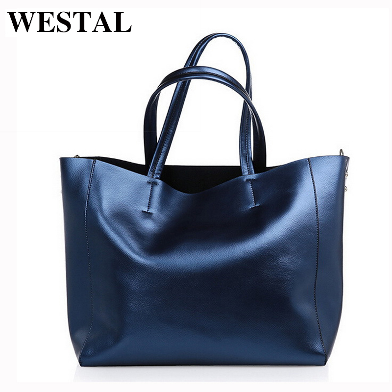 WESTAL Women's Leather Handbag Womem Bag Genuine Leather Bag Women Shoulder Crossbody Bags Casual Top- handle Totes Female Bags