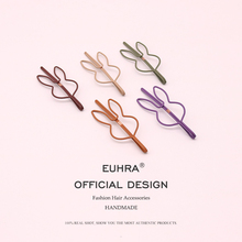 EUHRA 2PCS/Bag Fashion Metal Rabbit Shape Hair Clip Barrettes Paint Hairpin Barrette Color Skullies Claws Styling Tool