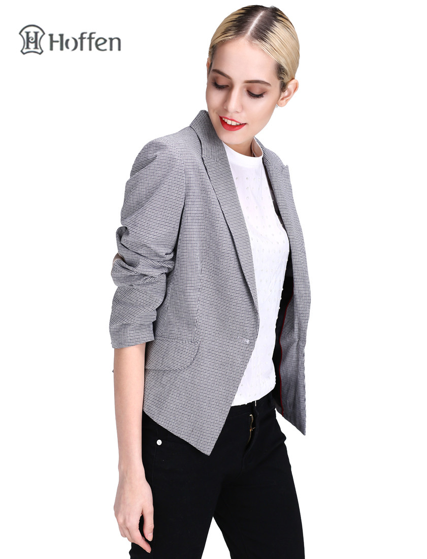 Hoffen Fashion OL ქალები Blazer ქურთუკი - ქალის ტანსაცმელი - ფოტო 4