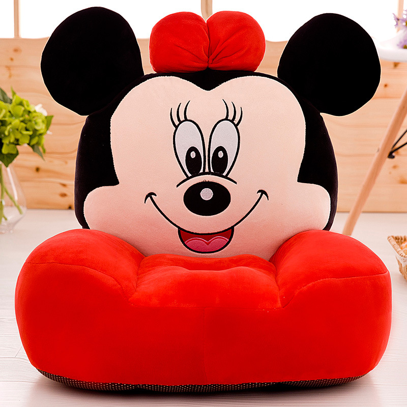 Disney Children cute cartoon lazy couch plush Mickey Mouse seat soft toy doll plush girl boy