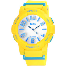 OTS Brand Children Watch Waterproof Sports Kids for girl dress boy student gifts Candy Fashion Quartz watches Silicone Clock