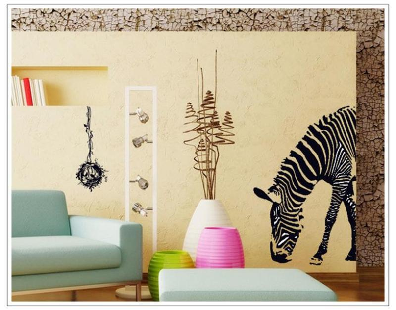 Marvelous Zebra Print Stickers For Walls Part   13: Delicate Huge Black  Zebra Bird Nest Part 90