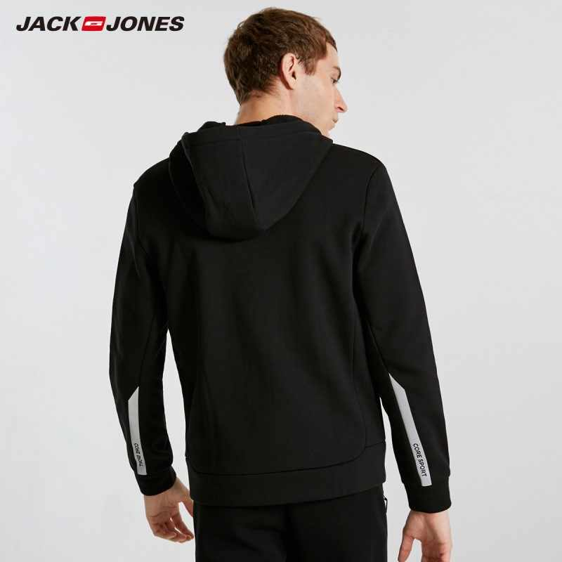 JackJones мужской кардиган с капюшоном толстовка флисовая куртка Мужские толстовки Верхняя одежда 2019 Новая модная мужская одежда 218333524