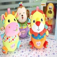 Newborn Christmas Gift Plush Baby Educational Toys Tumbler Animal Doll Rattle Cartoon Funny Soft Toy