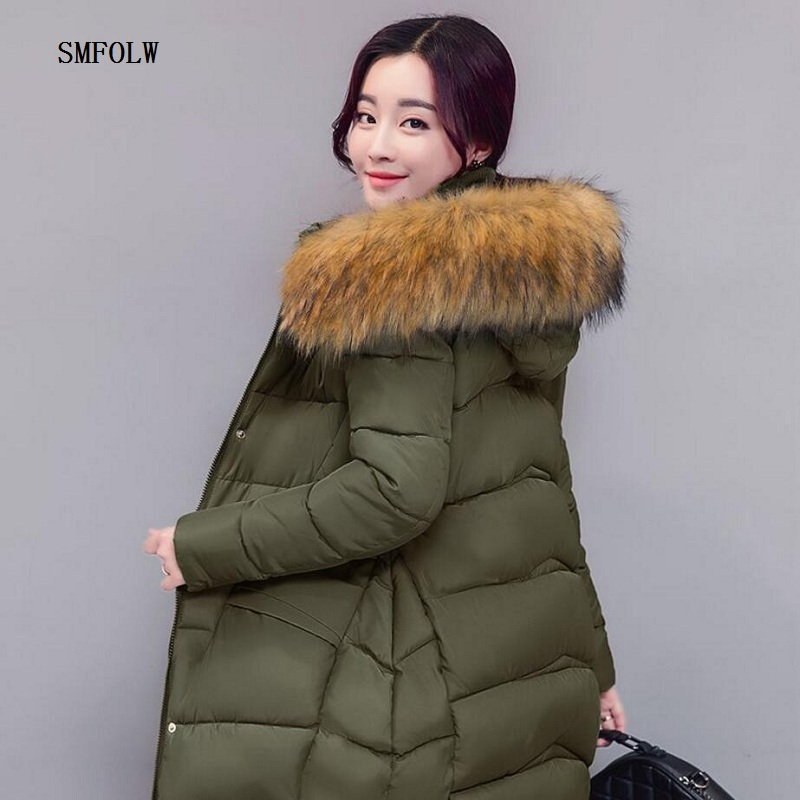 winter jacket women 2017 fashion slim long cotton-padded Hooded jacket parka female wadded jacket outerwear winter coat women winter cotton outerwear women super fur hooded wadded jacket female medium long padded coat thicken slim parka plus size