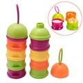 1Pc Baby Food Storage Milk Powder Infant Cartoon Style Four Layers Baby Powder
