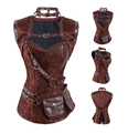 Lady Brown Steampunk Corset with Jacket
