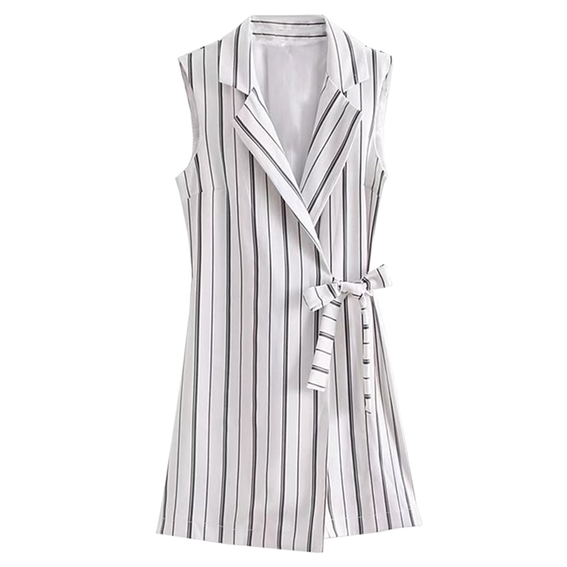 Classic Black White Striped Jumpsuit Playsuits Bow Tie Sashes Sleeveless Rompers Ladies Casual Cute Summer Jumpsuits For Women
