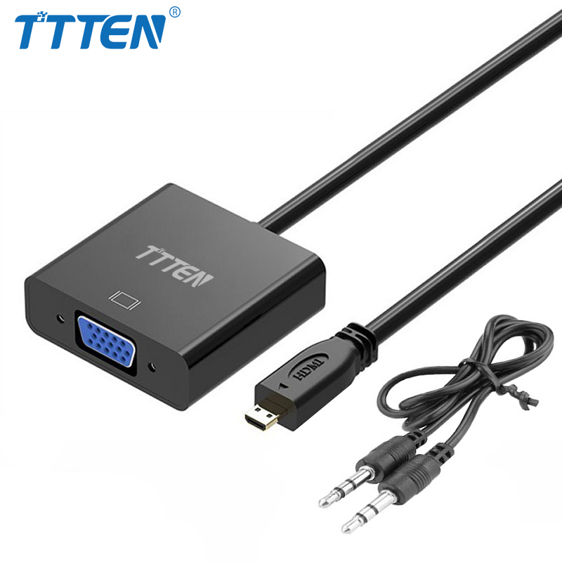 ttten micro hdmi to vga adapter converter cable analog. Black Bedroom Furniture Sets. Home Design Ideas