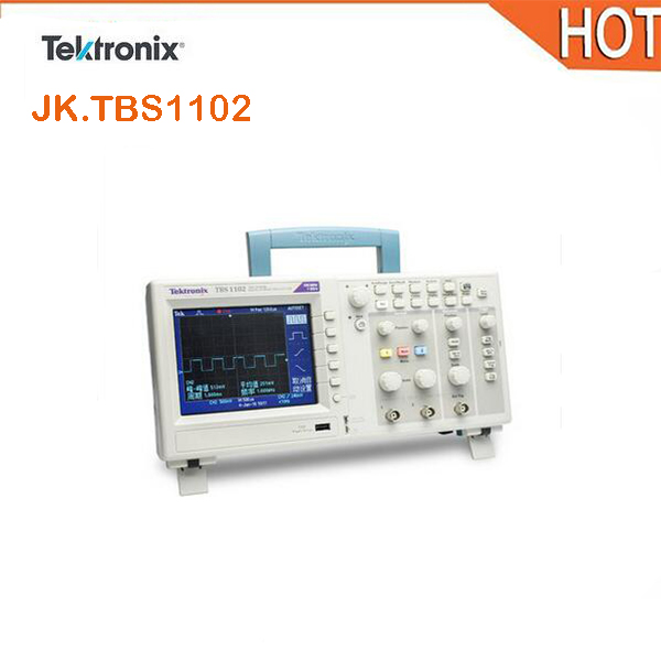 Tektronix genuine TBS1102 oscilloscope dual channel digital oscilloscope 100M digital storage oscilloscope цена