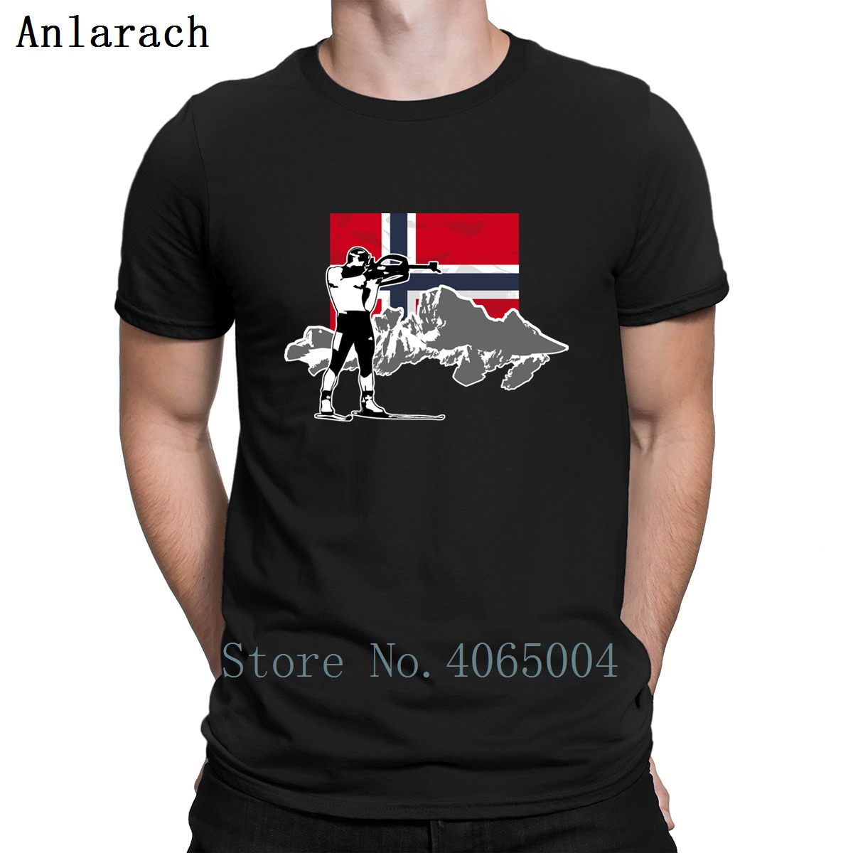 Biathlon Norway Flag T Shirt Loose Funny Cotton Spring Autumn Clothing Trend Customized S-XXXL Shirt