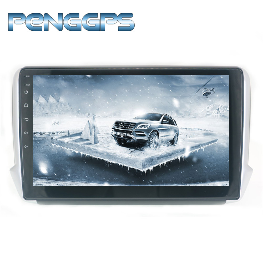 10 2 IPS Android 8 0 Double Din Car Radio for Peugeot 2008 Peugeot 208 2015