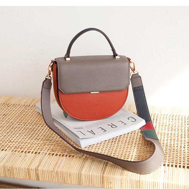 Chains Genuine Leather Totes Bags Shoulder Bags With Two Shoulder Straps Real Leather Panelled Crossbody Bags
