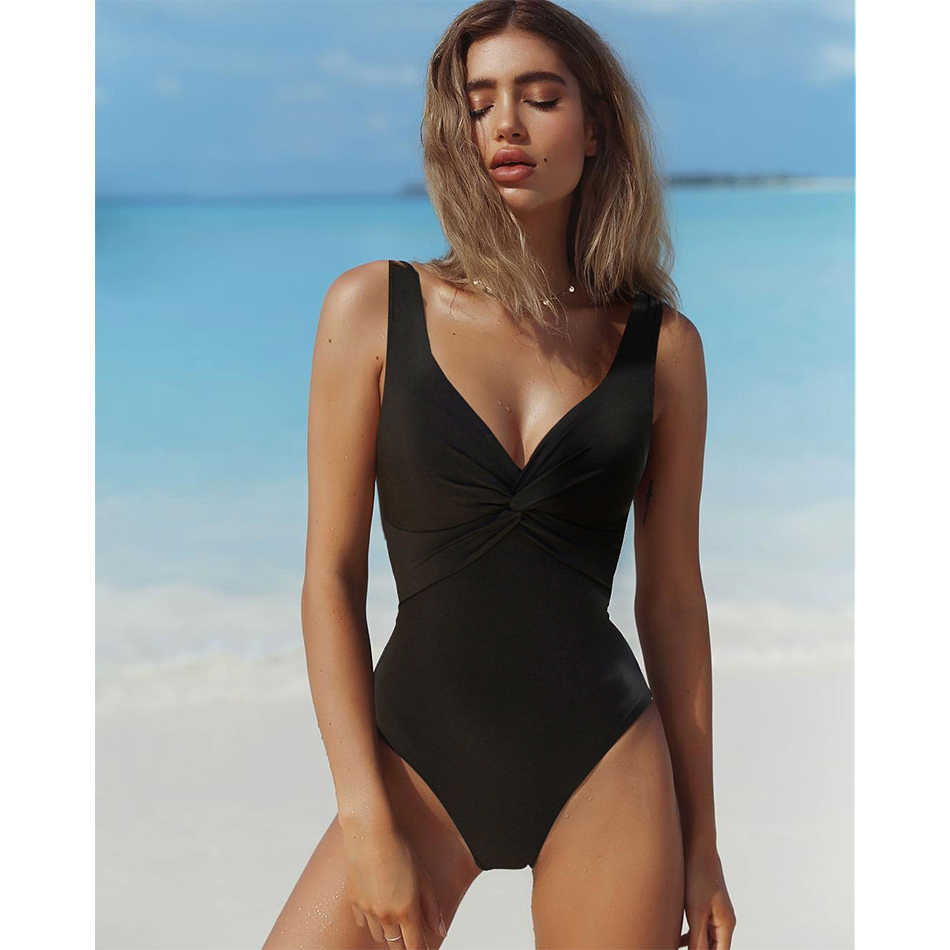 a3d4099b97 ... 2017 Swimsuit Women One Piece Monokini Vintage Swimwear Slimming  Bodysuit Female Black Bathing Suit Wide Strap ...