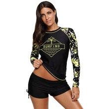 Женская рашгард одежда для плавания с Длинным Рукавом Рашгард плавательные майки для серфинга Топ для плавания костюм для бега рубашка для пешего туризма Рашгард# A