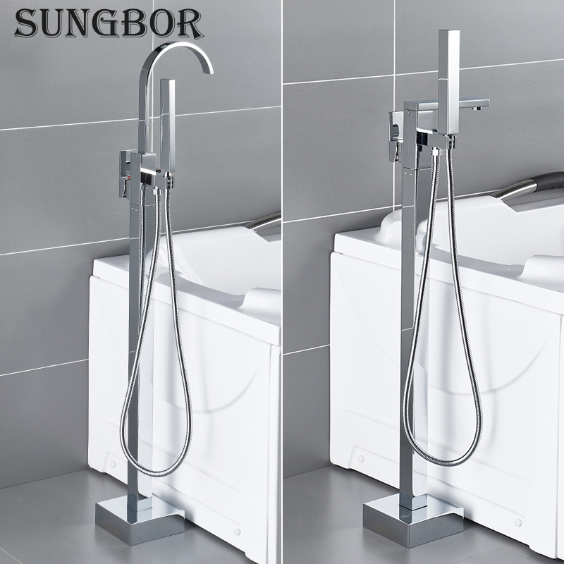 Bath Tub Faucet Floor Mounted Chrome Waterfall Bathtub Mixers Freestanding Hot Cold Water Bath Shower Set Hand Shower HD-2878LBath Tub Faucet Floor Mounted Chrome Waterfall Bathtub Mixers Freestanding Hot Cold Water Bath Shower Set Hand Shower HD-2878L