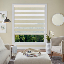 Caffeine Elegant Adjustable Sunlight Home Valance Dual Roller Blinds Zebra Customized