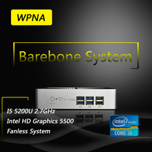 WPNA Nettop barebone UX850 intel core i5 5200U HD Graphics 5500 WIFI mini pc windows All In One Computer Office Desktop