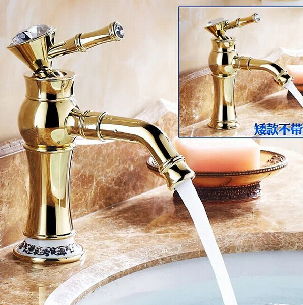 fashion Europe style high quality brass gold finish bathroom high basin faucet sink faucet sink faucet fashion europe style luxury high quality