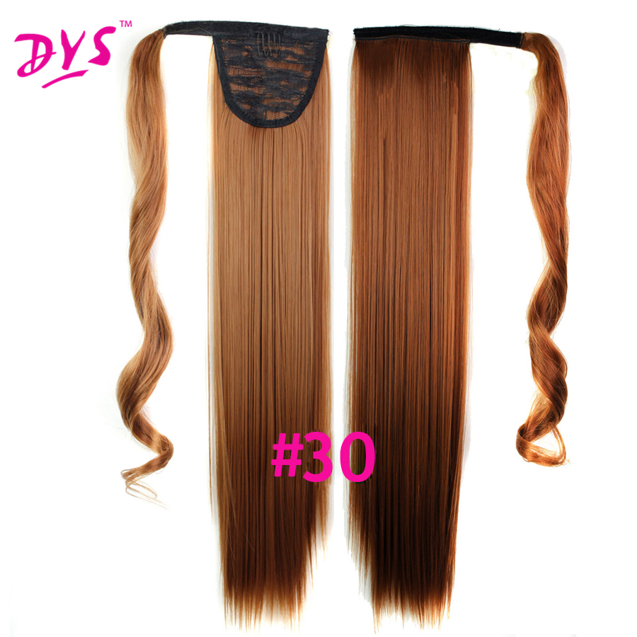 Deyngs 60cm Long Straight Clip In Hair Tail False Hair Ponytail Hairpiece With Hairpins Synthetic Hair Pony Tail Hair Extensions (9)