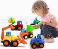 Envío libre Hui le 326 feliz equipos inerciales coche camión volquete 4 UNIDS traje tractor excavadora juguete del tanque